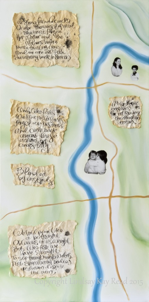 River Mother (left) - mixed media, 2014