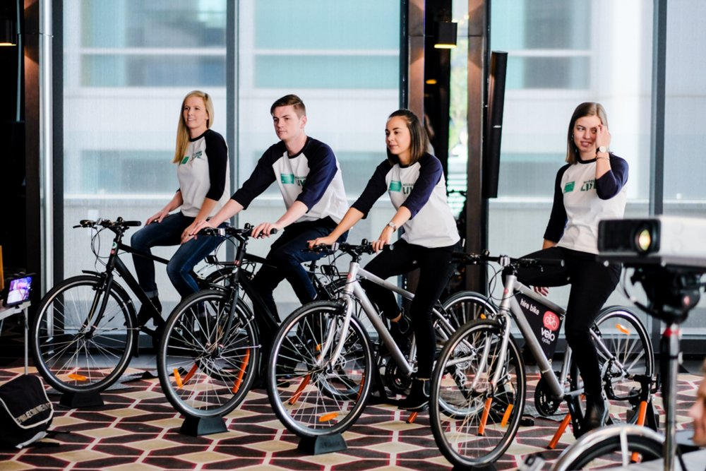 Pedal Power System - Battery: 4 cyclist produce 250 watts of continuous powerProjection System: Can power any projectors. Charges our battery systems or use for direct mains powerAudio: Can power any sound systemOther features: Capacitor displays energy produced/Supplied with 4 x bikes on training rollers suitable for all ages and abilities