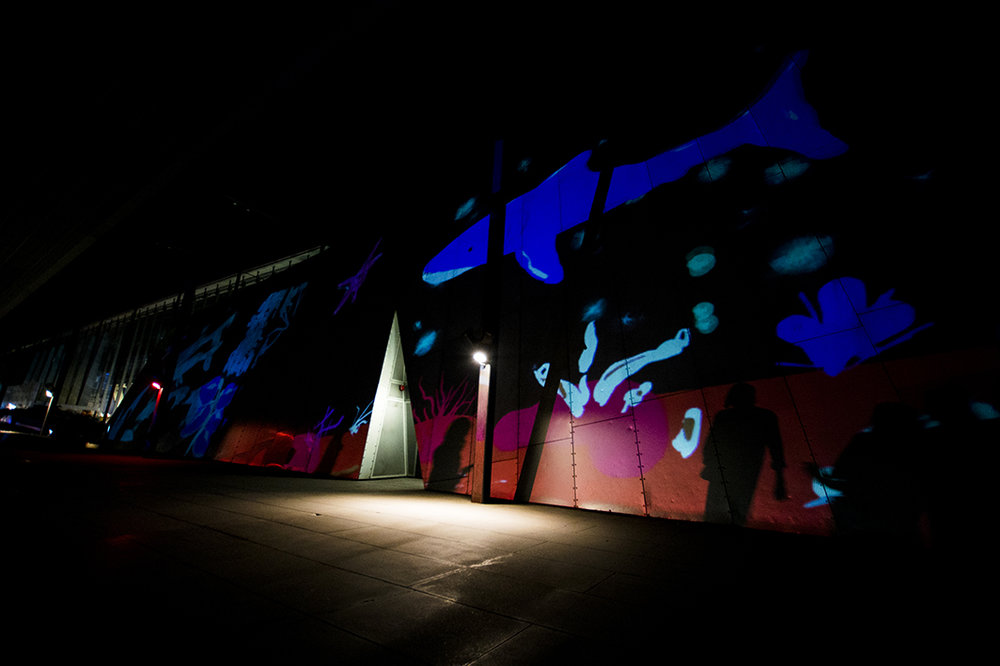 Live Animated Light Painting - White Night Melbourne 2018, Melbourne MuseumEasyasart's interactive large format projection performanceLearn more here
