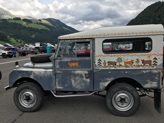 Seen this weekend at an event: the most Swiss Land Rover ever.