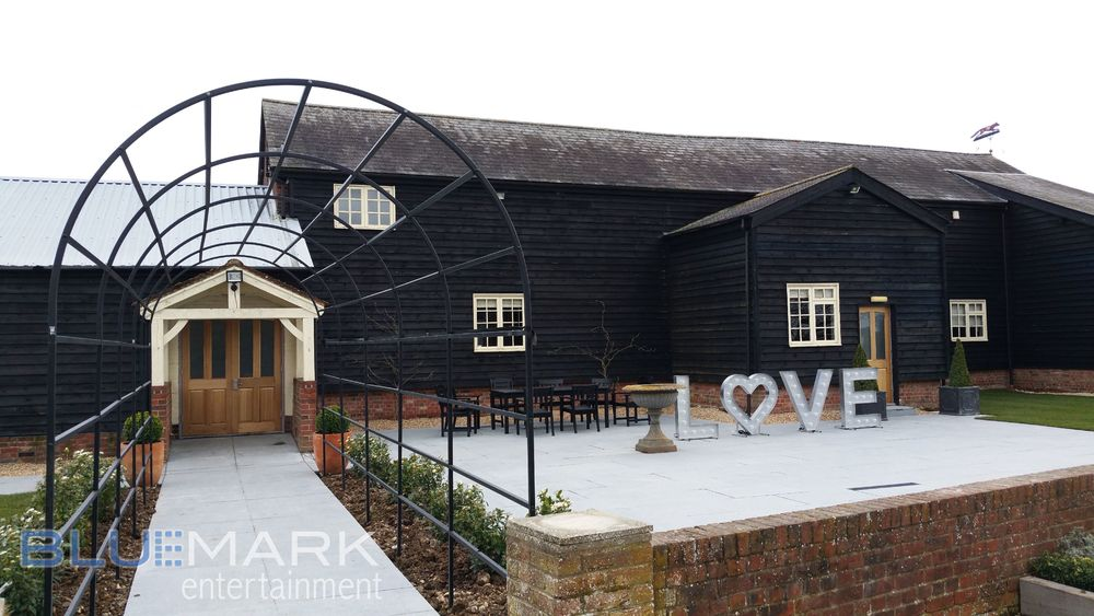 New garden layout at Milling Barn with our LOVE letters.
