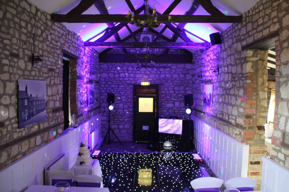 Simple LED starlit dance floor and creative lighting solution