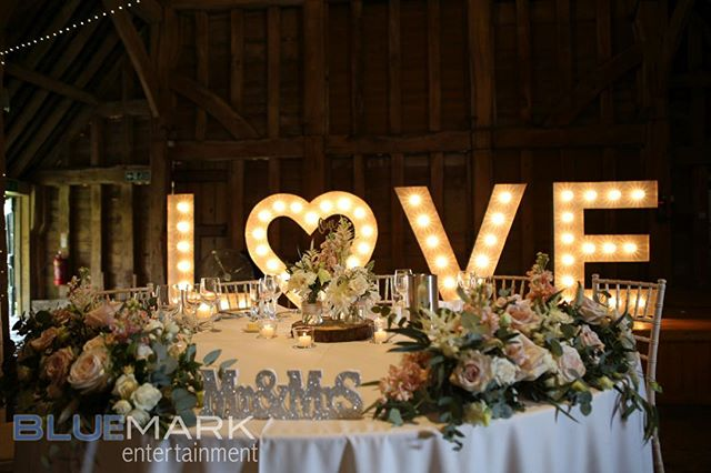 Love is in the air - congratulationa Joey and Nicola - thank you for choosing us to be your DJ #hertsweddingdj #barnwedding #hertsdj #wickeddj #rusticbarnwedding #loveletters #mrandmrsfarnell #pealighting #eventphotos #loveisintheair