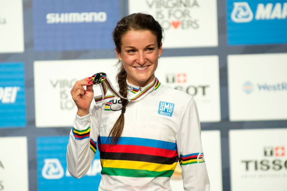 Winning the coveted rainbow jersey in Richmond, Virginia USA last month