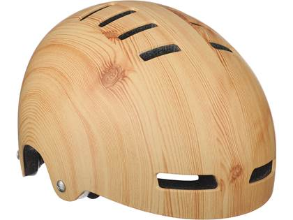 The Lazer Street Delux Helmet in wood finish