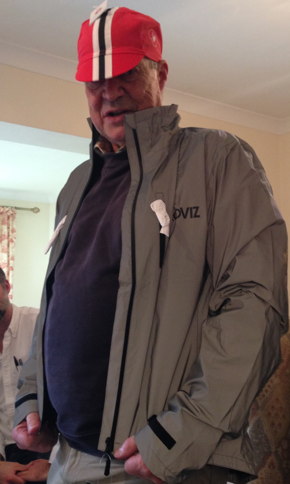 Uncle Tony aka 'Shimmering Demon' sporting his new Proviz Reflect360 jacket and Castelli cycling cap