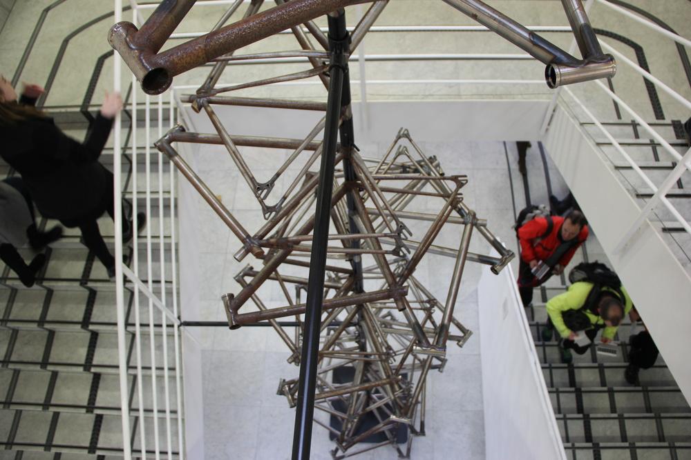 Donky' bike designer Ben Wilson's bike frame sculpture