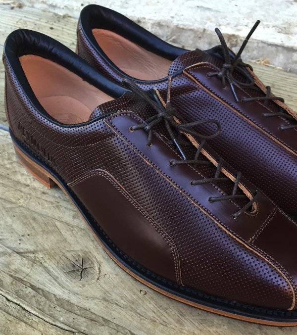 Brown Pinned Leather City Cycling Shoe