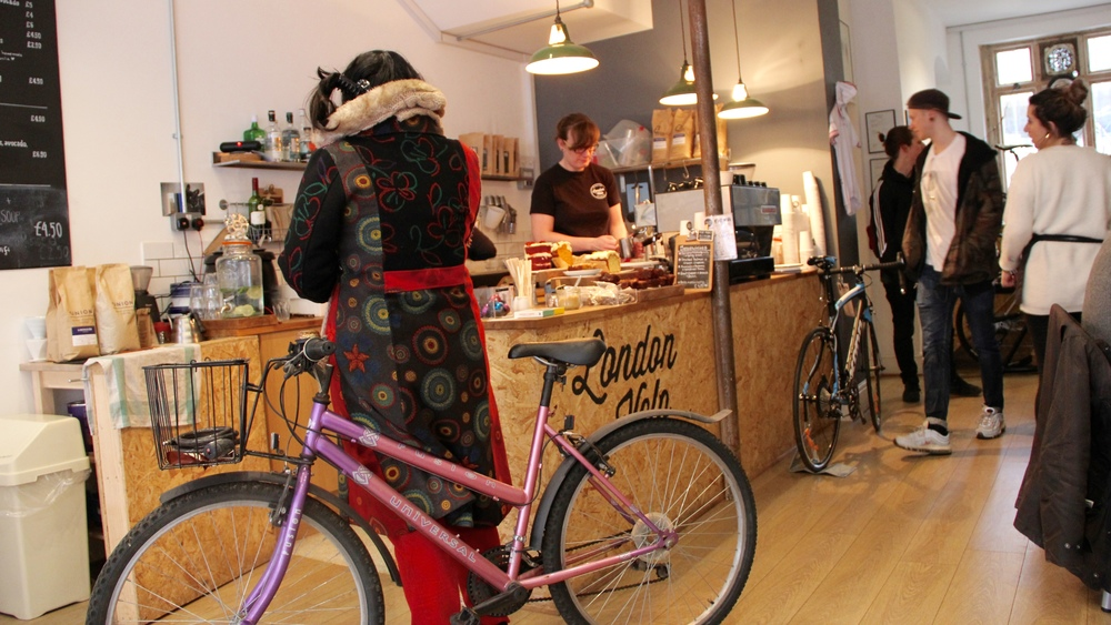 Bikes are given as warm a welcome as customers at London Velo