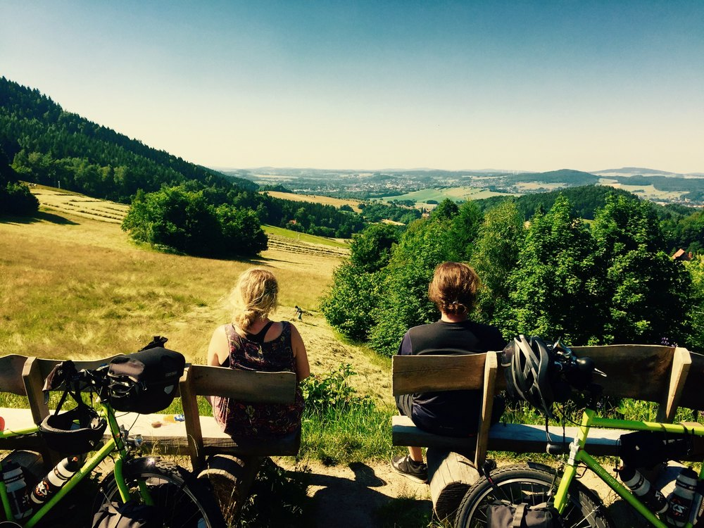 Helmut and Sophia cycling from Germany to South East Asia