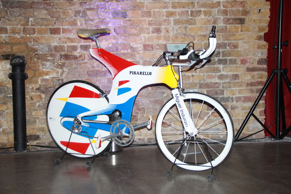 Miguel Indurain's time trial bike at the Rouleur Classic event