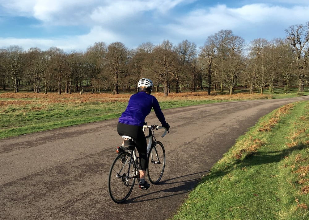 All comfort and joy testing out the new saddle in Richmond Park
