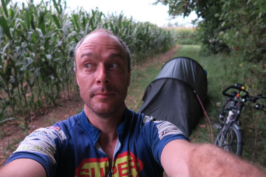 Will sneakily camping in a cornfield