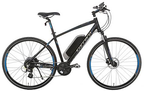 The Carrera Crossfire e bike has a range of up to 80 miles on one charge