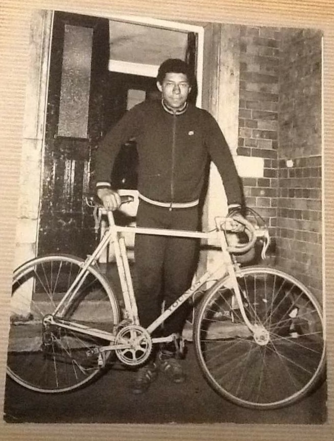 A teenage Maurice with his very first bike