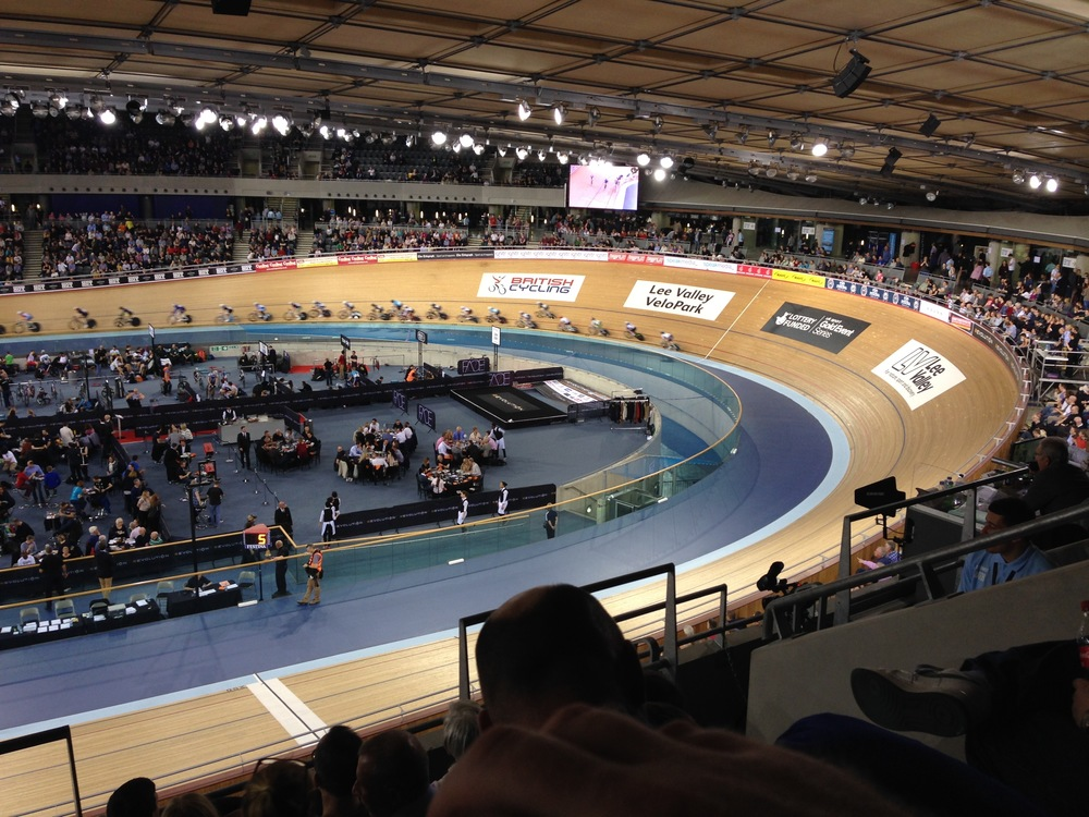 Lea Valley Olympic Velodrome where racing is more of a family occasion!