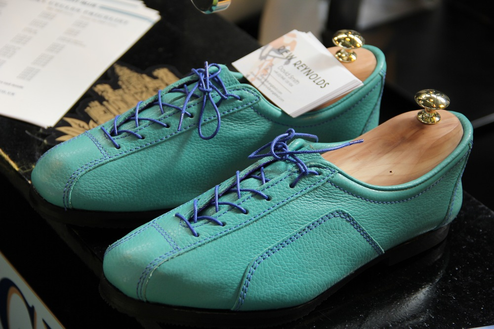 Celeste Blue road shoes at the NEC Cycle Show 2015