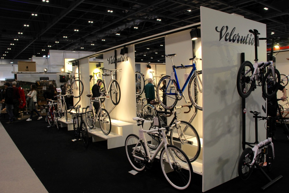 The Velorution stand at the London Bike Show