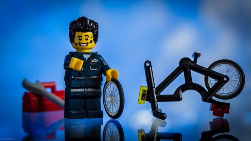 Cycle Maintenance makes you a happy Lego chappy