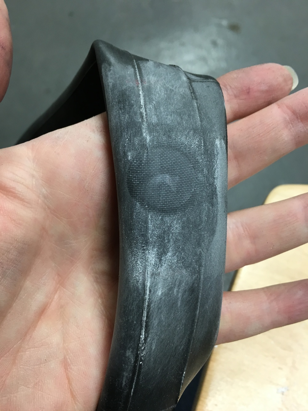 Impressed by our professional looking inner tube repair?