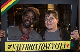 Lincoln Romain with Robert Elms launching the BC crowdfunding campaign back in October 2015. Image courtesy of BrixtonBuzz