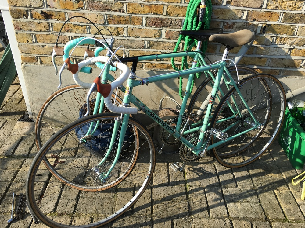 Shed loads of vintage Italian road bikes from the 1970s