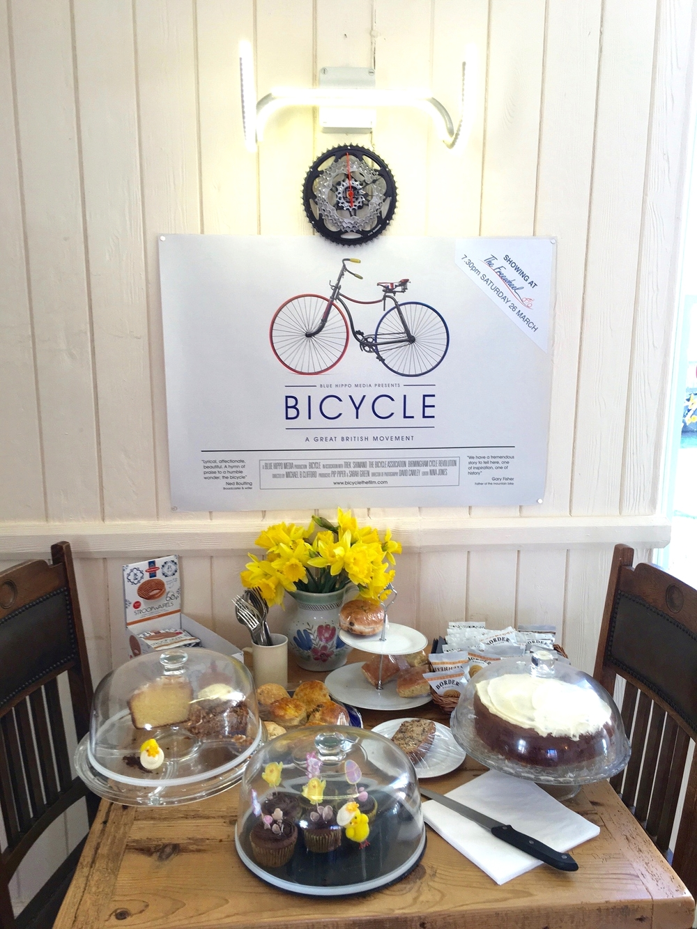 Cakes and cycling movies!