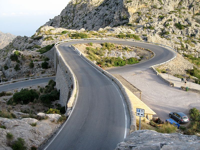 The summit of the famous Sa Colobra climb in Mallorca