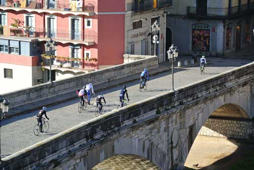 One of Girona's beautiful bridges