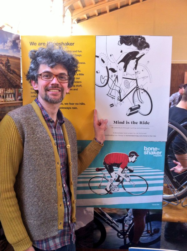 Jet promoting his book at the Boneshaker Magazine stand at Bespoked