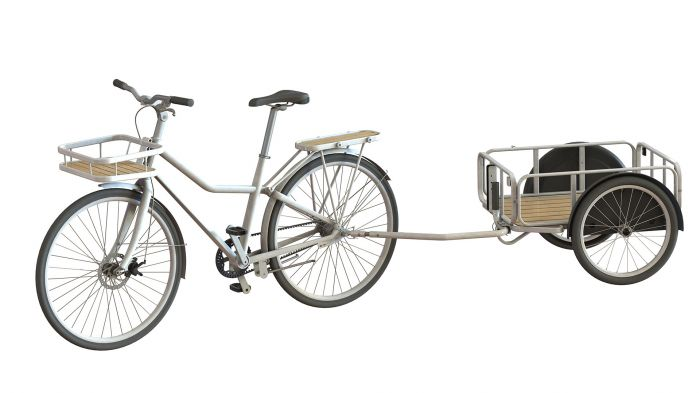 The Sladda comes with optional extras such as the cargo trailer and front basket
