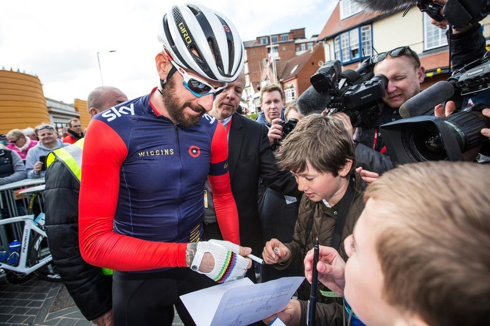 Sir Brad - Knight of the Road  - Picture courtesy of Tour de Yorkshire