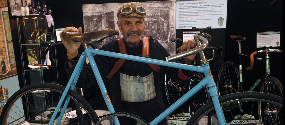 Luciano Berruti, poster-boy of L'Eroica, happened upon The Light Blue's stand at the Eurobike Show last year and liked what he saw
