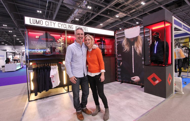 Husband wife team, Doug and Lucy at the London Bike Show this year
