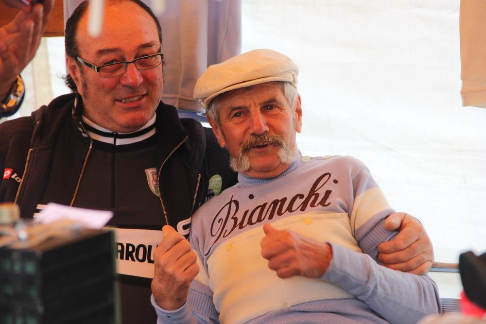L'Eroica poster boys:Luciano Berruti selling Italian bike bits