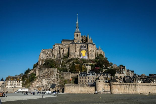 The  Grand Départ  is from Mont Saint Michel in Normandy this year