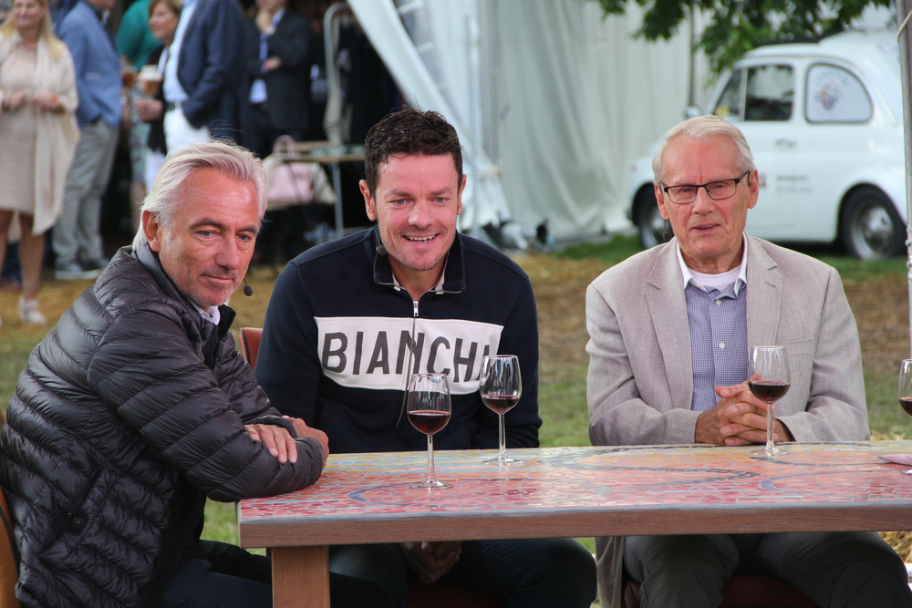 Bert van Marwijk, Marc Lodz and Jan Jannsen interviewed on live TV on the eve of Eroica Limburg