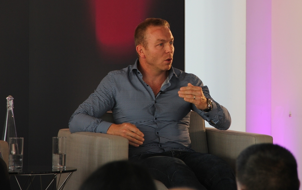 Sir Chris Hoy speaking at The Times+ event in London on Thursday