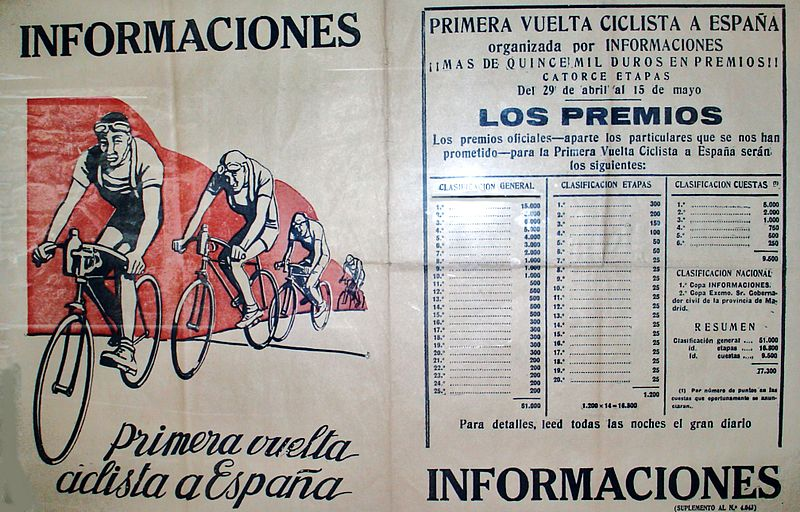 The first Vuelta was launched in 1935 to boost sales of the  Diario Informaciones