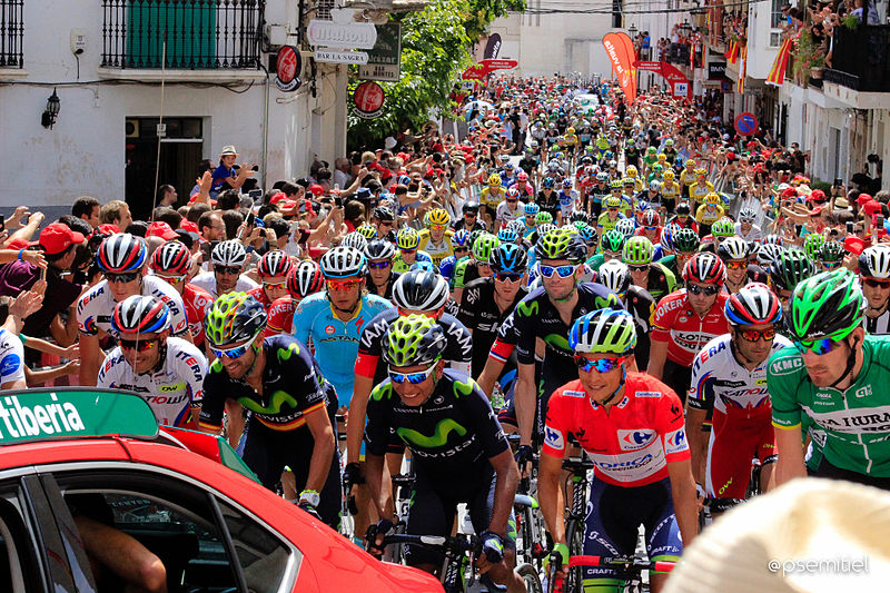 Quintana at the front of the peloton