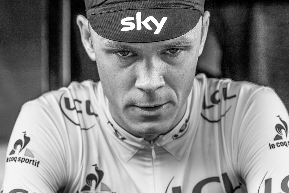 Froome before the start of stage 19 in Albertville