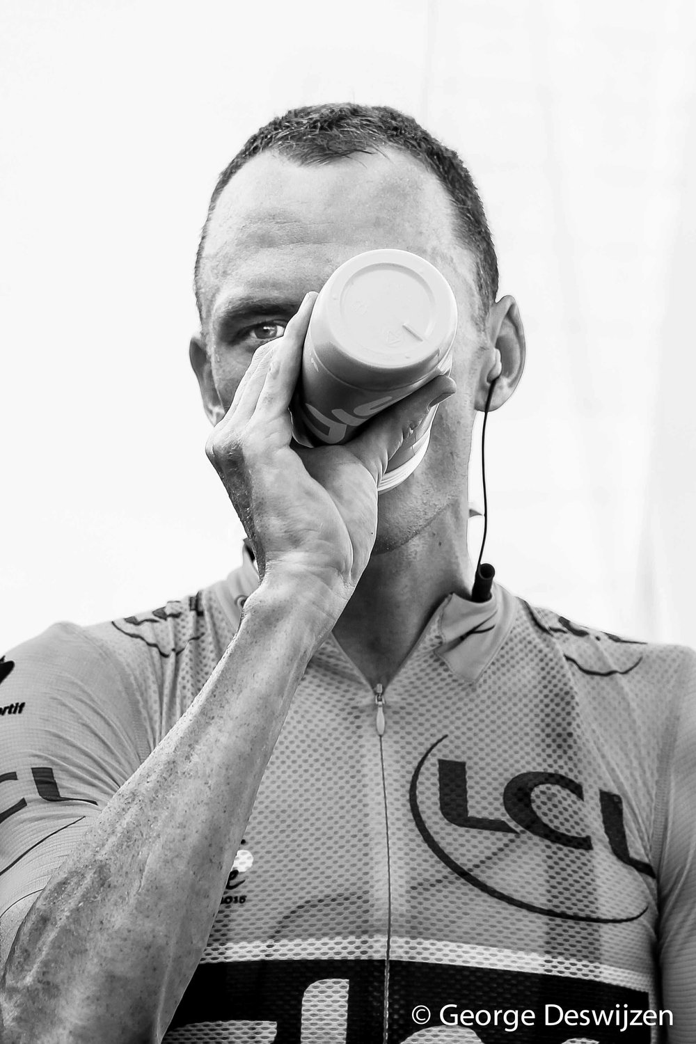 Froome after he won a stage in 2015 Tour