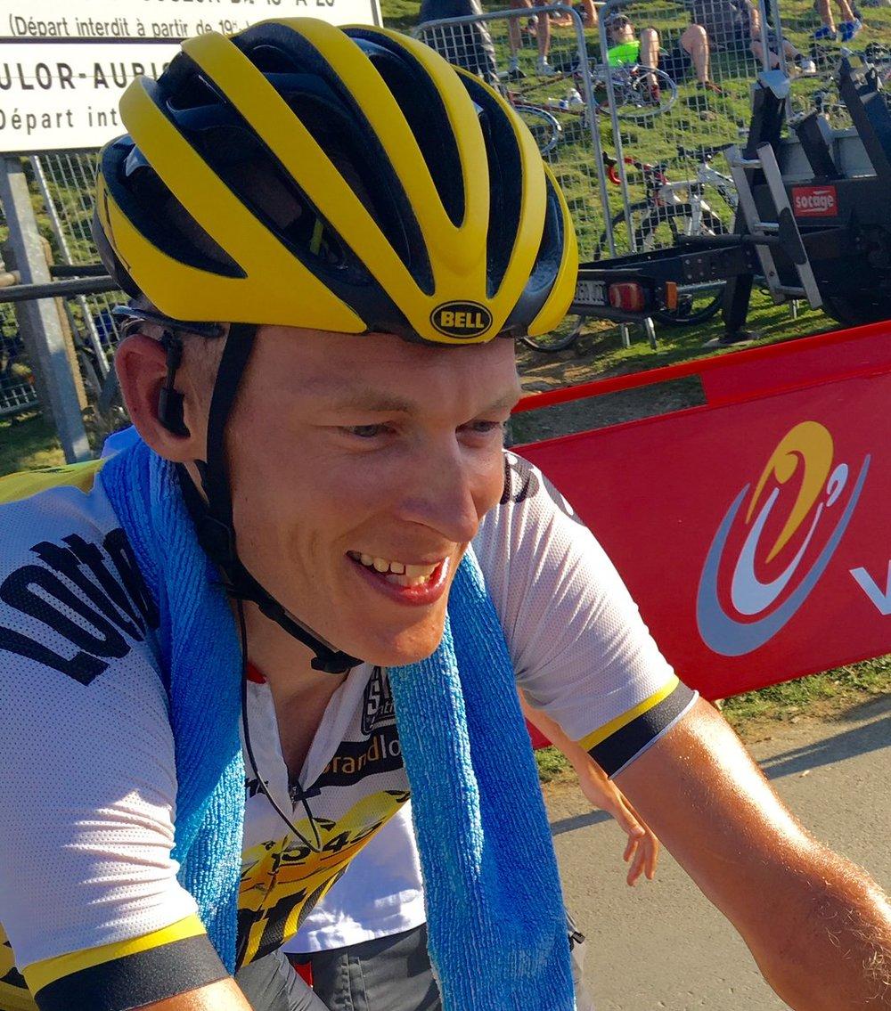 Robert Gesink rode a determined race today