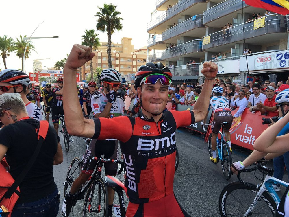 Jempy Drucker, delighted to win the sprint
