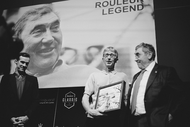 At the Rouleur Classic 2015 with David Millar and Eddy Merckx  (photo by Jakob Kristian Sorensen)