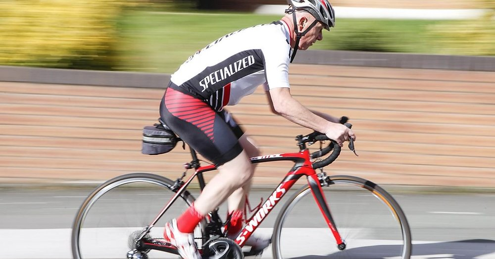 Roger Armstrong, 56, was on a training ride when he was nearly swept up by the peloton