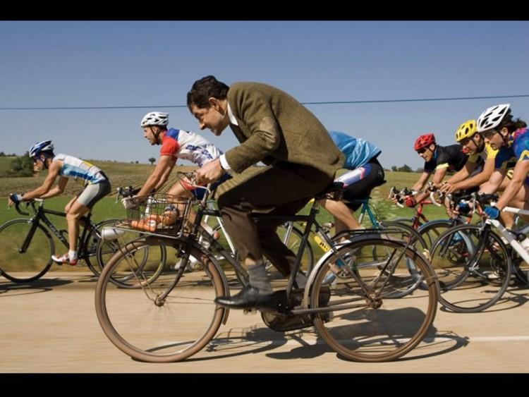 Mr Bean leads out the sprint train