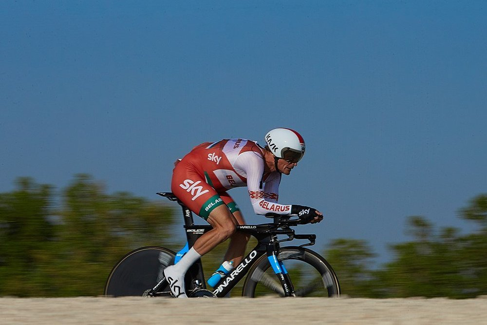 Time trialling through the desert of Qatar