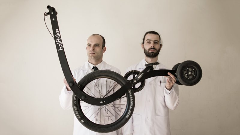 Martin Angelov and Mihail Klenov, inventors of the Halfbike