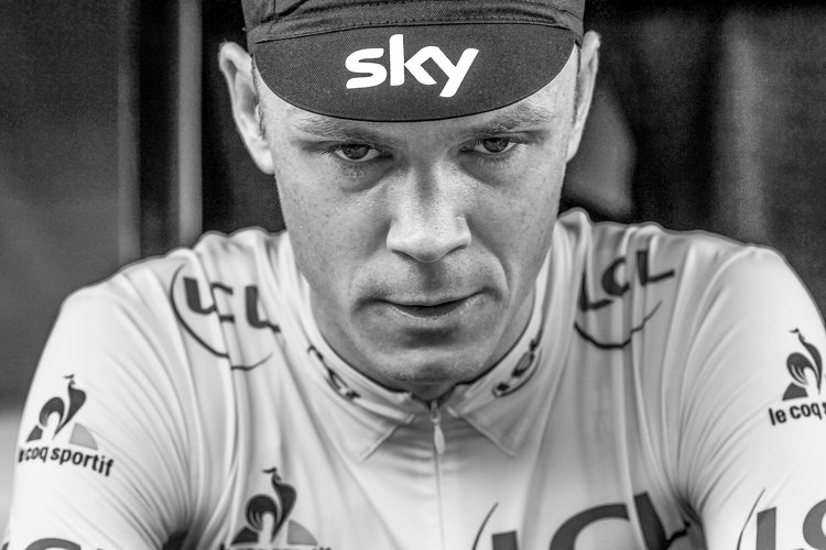 Chris Froome at the Tour de France photographed by George Deswijzen